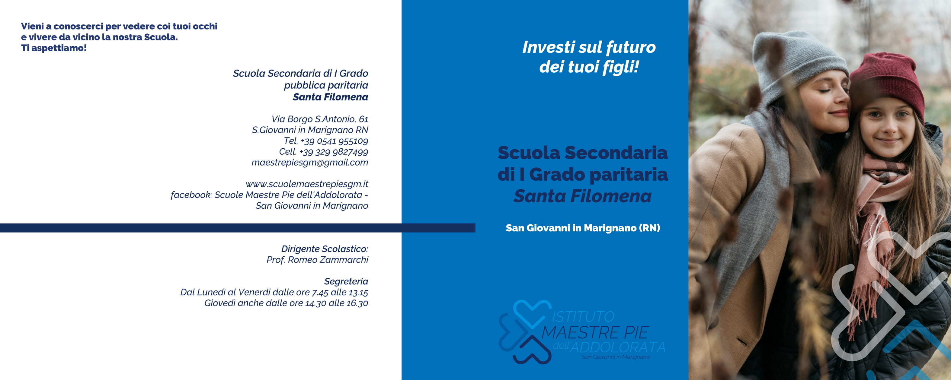 Brochure scuola Secondaria I grado Santa Filomena